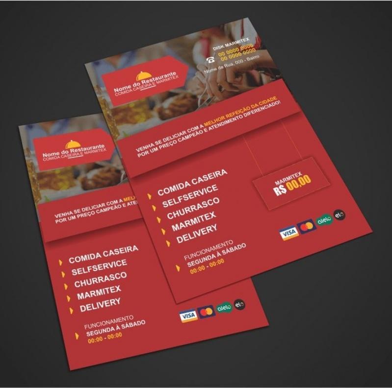Orçamento de Panfletos de Lanchonete Arujá - Panfletos de Restaurante