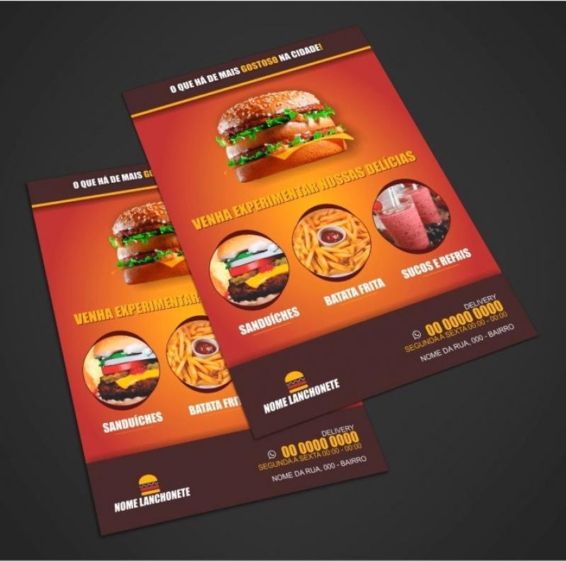 Panfleto de Salgados Brasilândia - Panfletos de Restaurante