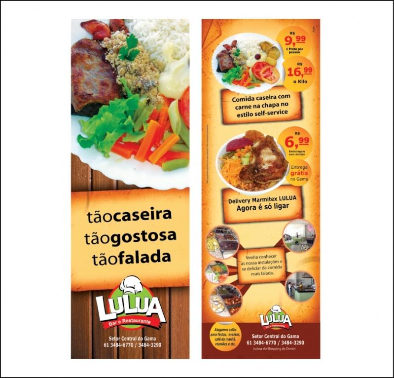 Panfletos de Lanchonete Preço Brasilândia - Panfletos de Restaurante