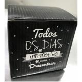 caixa personalizada para caneca Butantã