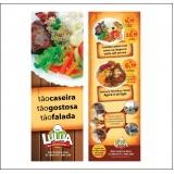 panfletos de restaurante preço Vila Barros