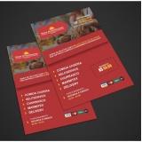 panfletos loja de roupas preço Vila Barros