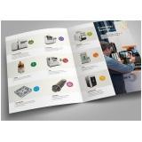 quanto custa impressão catálogo de produtos Parque São Jorge