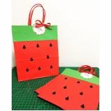 sacola de papel personalizada preço Jardim Santa Terezinha